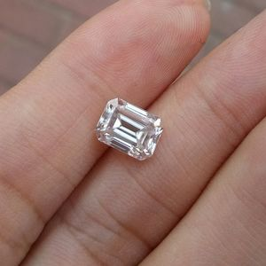4 carat moissanite emerald cut loose stone